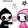 skull emo love